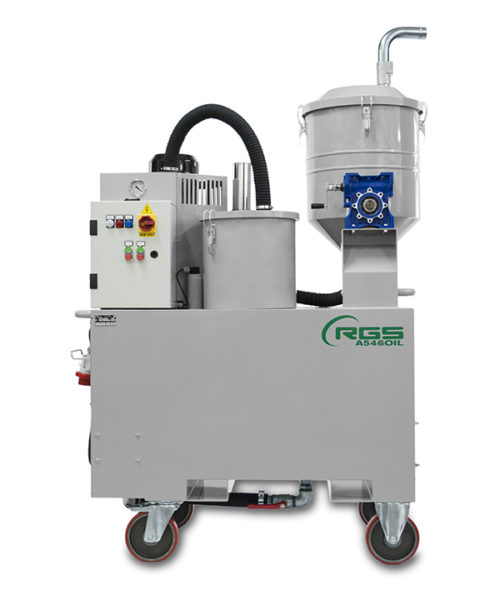 THREE-PHASE INDUSTRIAL VACUUM CLEANER FOR OILS A546OIL-A1046OIL