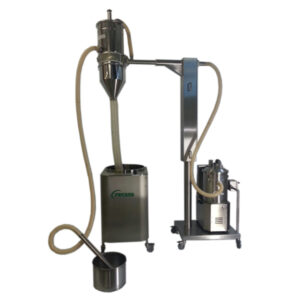 Impianto-trasferimento-polveri-farmaceutiche-con-ausilio-di-colonna-elevatrice-pneumatica
