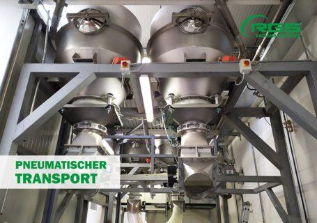Pneumatischer Transport für die Bewegung von Lebensmittelpulvern