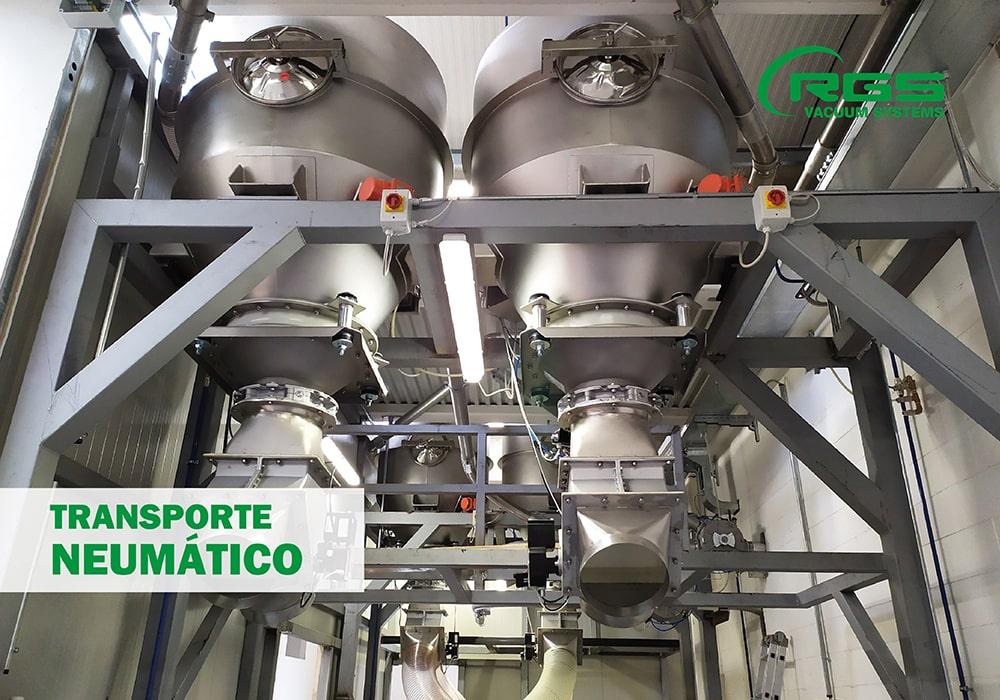 Transporte neumático para la manipulaciόn de polvos alimenticios