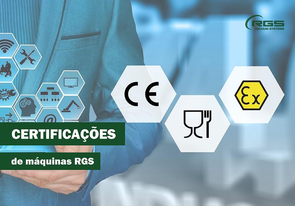 Certificações de máquinas RGS