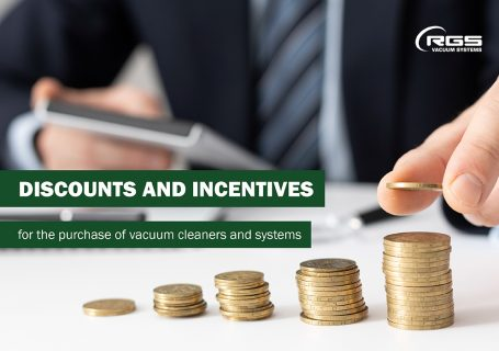Discounts and incentives for the purchase of vacuum cleaners and systems