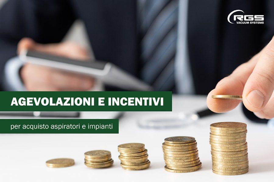 Agevolazioni e incentivi per acquisto di aspiratori e impianti
